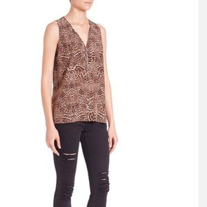 The kooples animal print sleeveless top